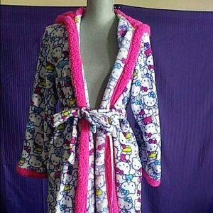 Sanrio Hello Kitty Plush bath robe EUC